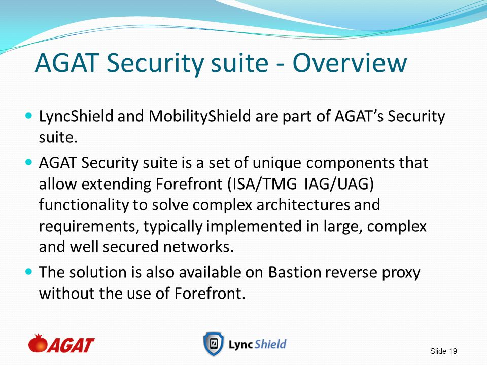 AGAT Security suite - Overview