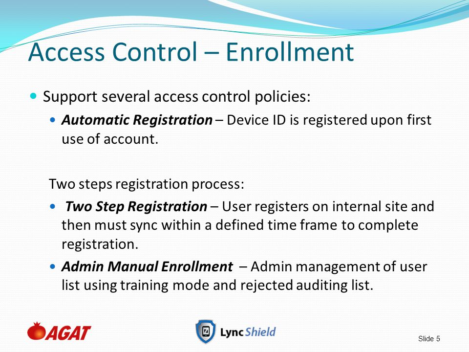 Access Control – Enrollment