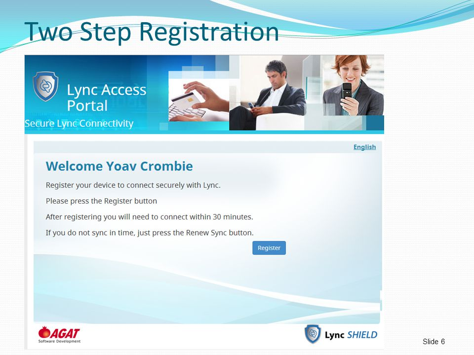 Two Step Registration
