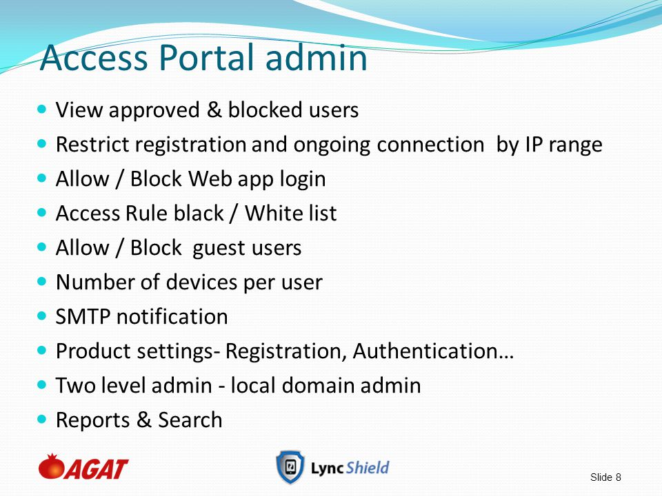 Access Portal admin View approved & blocked users