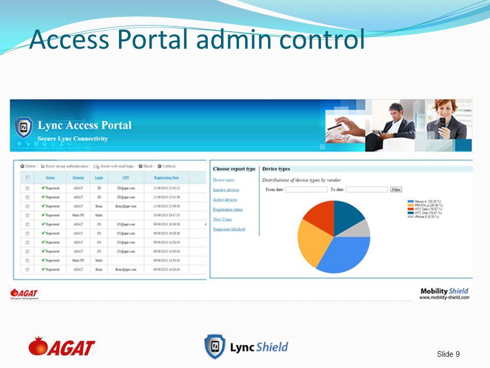 Access Portal admin control