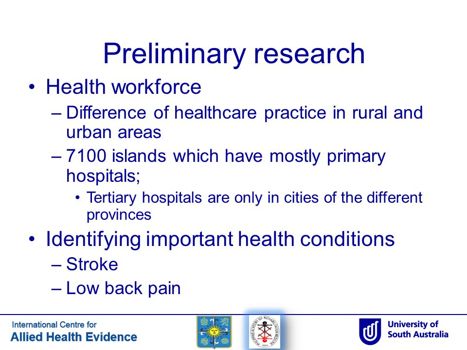 Preliminary research Health workforce
