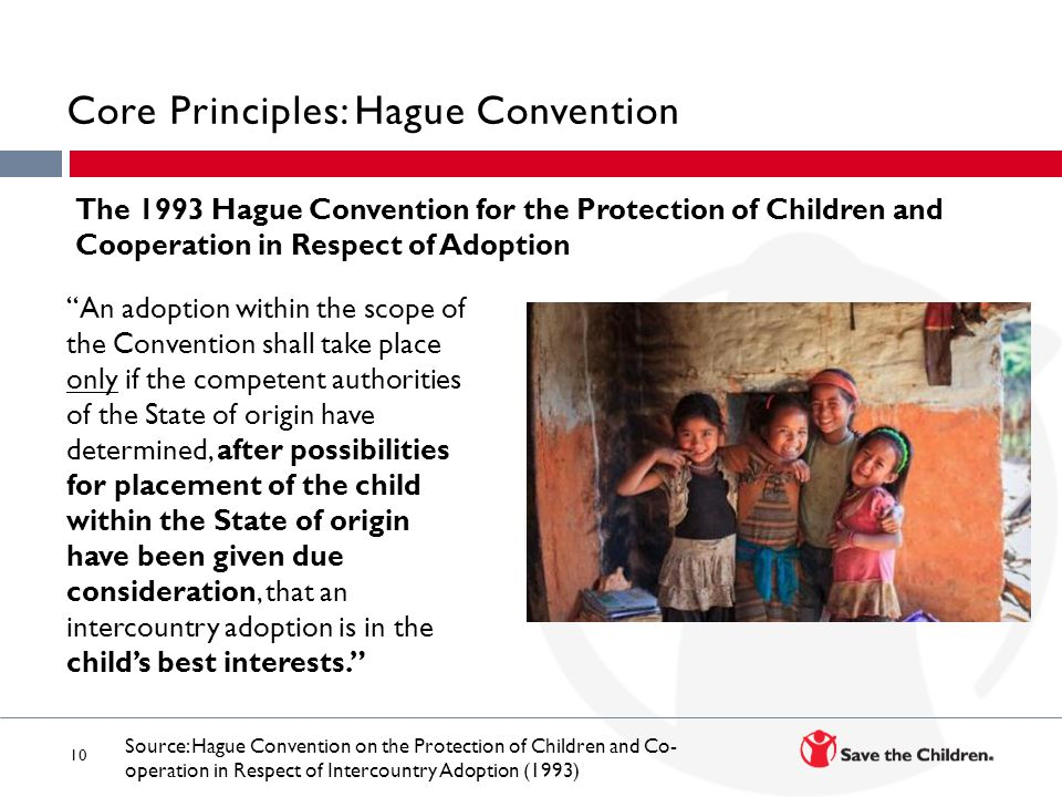 Core Principles: Hague Convention