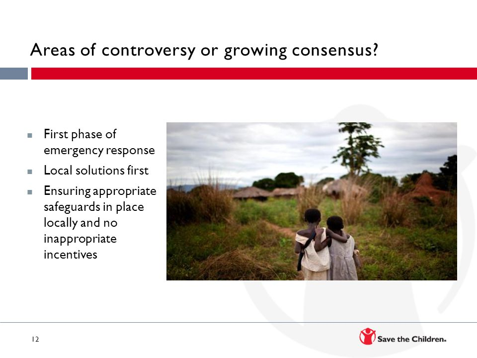 Areas of controversy or growing consensus