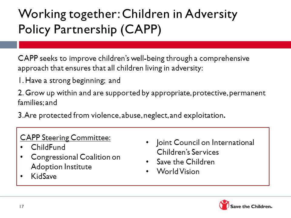 Working together: Children in Adversity Policy Partnership (CAPP)