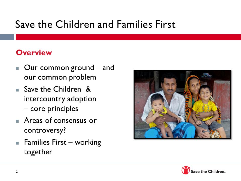 Save the Children and Families First