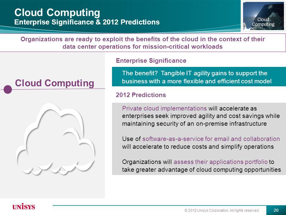 Cloud Computing Enterprise Significance & 2012 Predictions