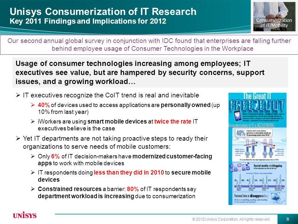 Unisys Consumerization of IT Research Key 2011 Findings and Implications for 2012