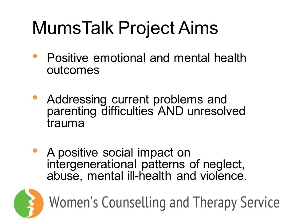 MumsTalk Project Aims Positive emotional and mental health outcomes