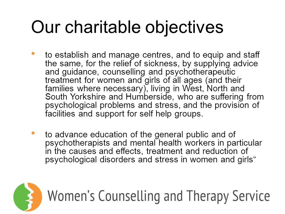 Our charitable objectives