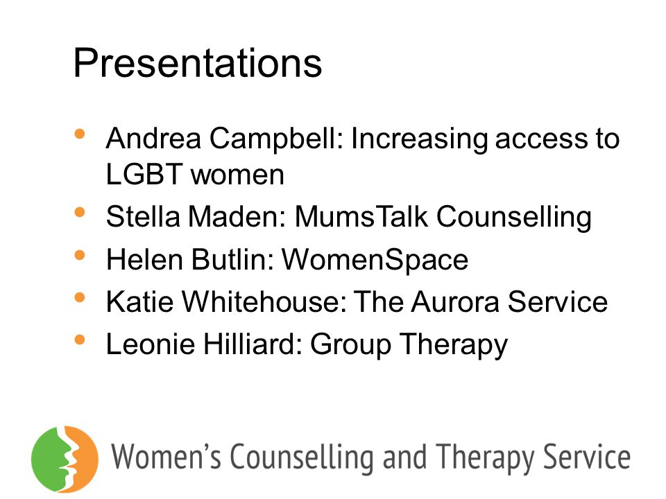 Presentations Andrea Campbell: Increasing access to LGBT women