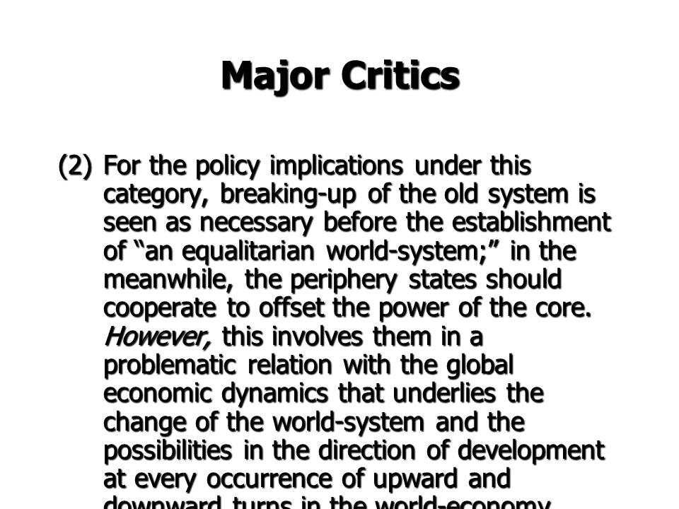 Major Critics
