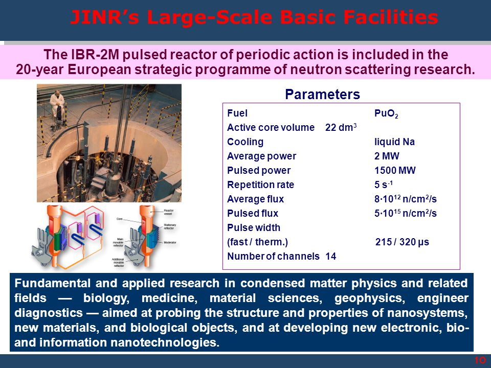 JINR's Large-Scale Basic Facilities