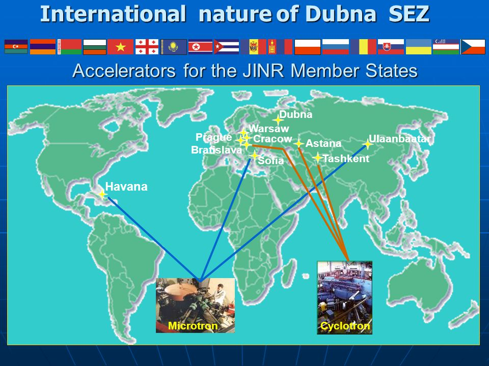 International nature of Dubna SEZ
