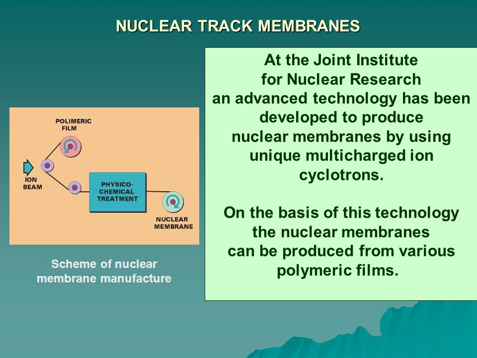 NUCLEAR TRACK MEMBRANES