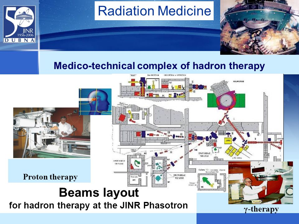 Beams layout for hadron therapy at the JINR Phasotron