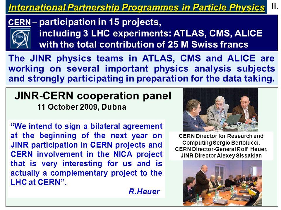 JINR-CERN cooperation panel