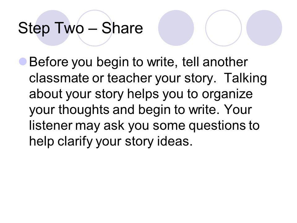 Step Two – Share
