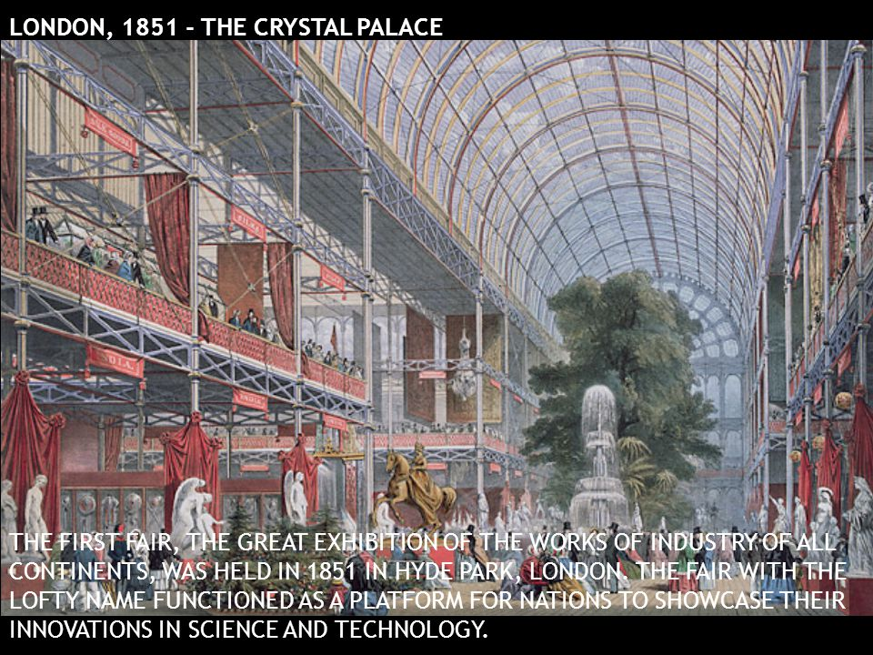 LONDON, 1851 - THE CRYSTAL PALACE