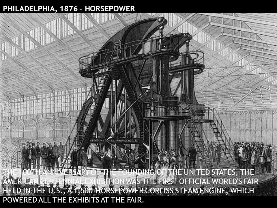 PHILADELPHIA, 1876 - HORSEPOWER