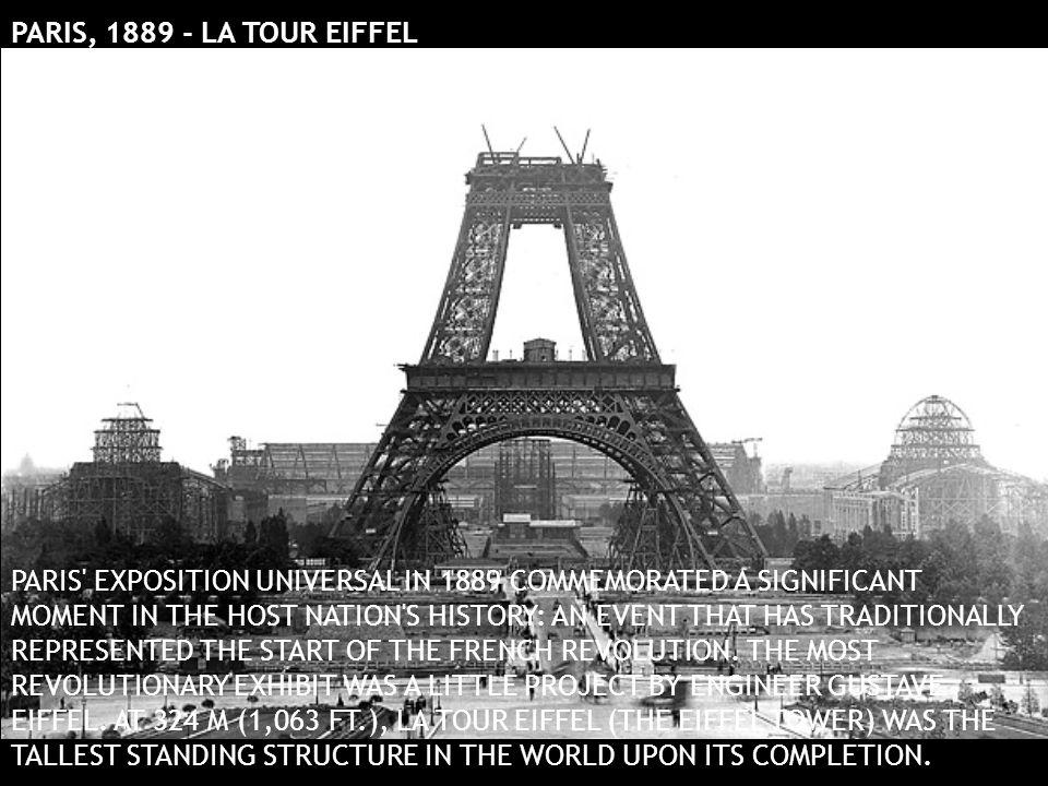 PARIS, 1889 - LA TOUR EIFFEL