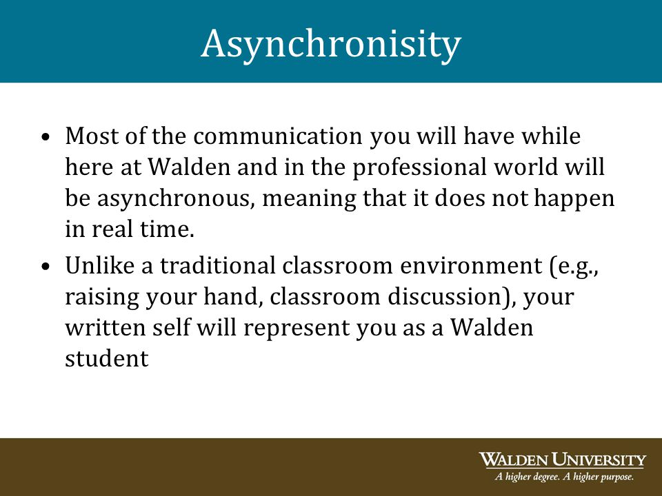 Asynchronisity