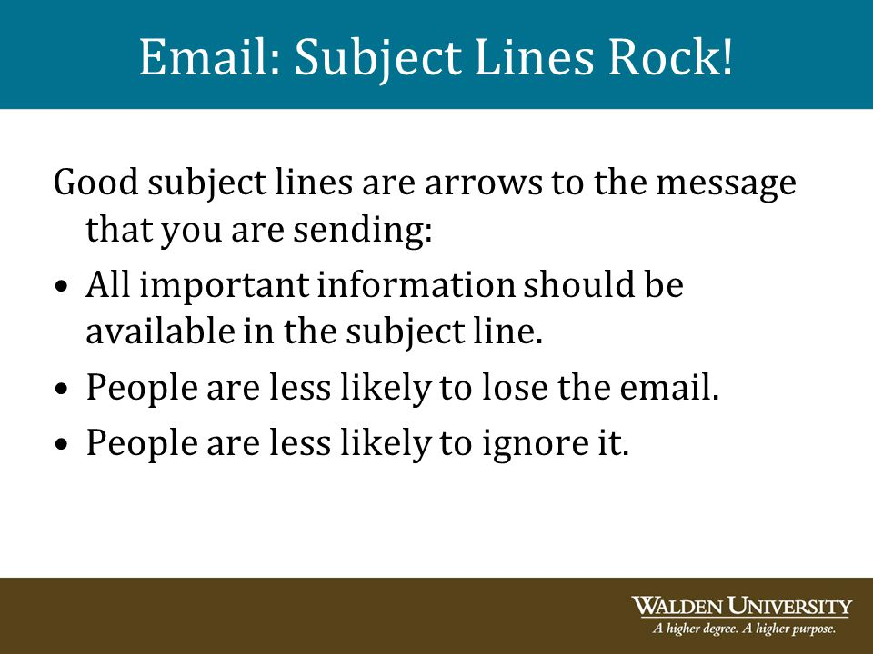 Email: Subject Lines Rock!