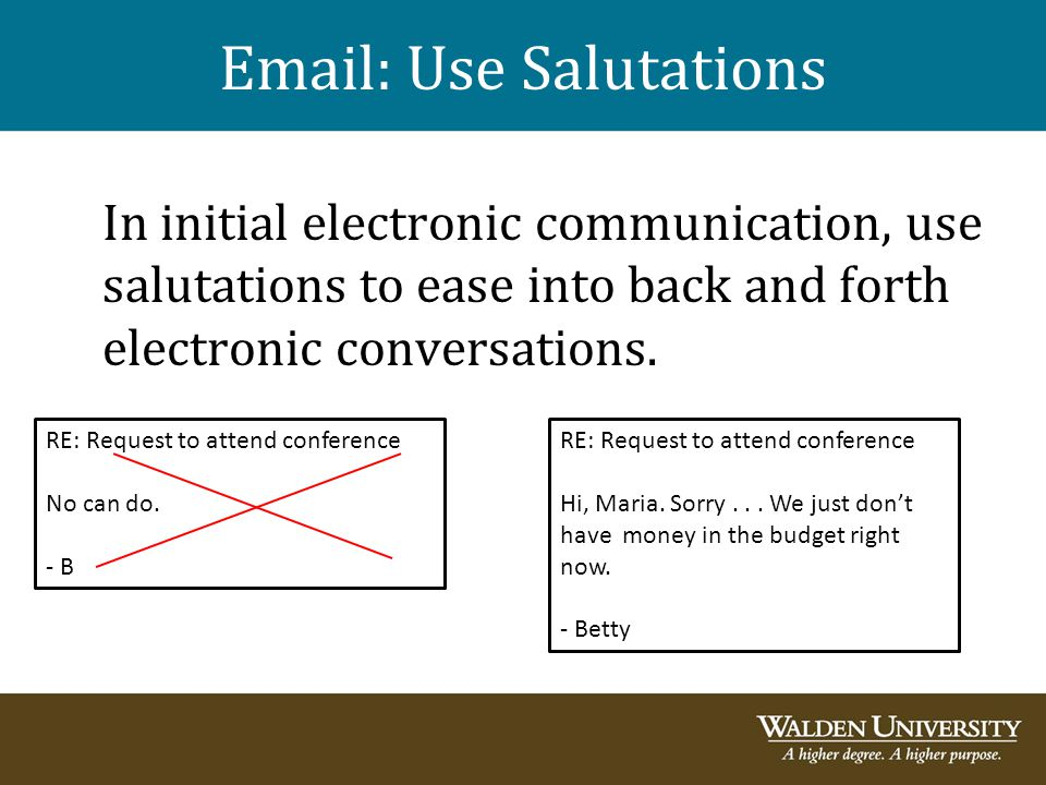 Email: Use Salutations