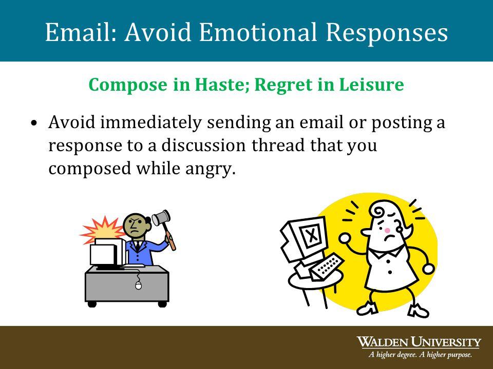Email: Avoid Emotional Responses