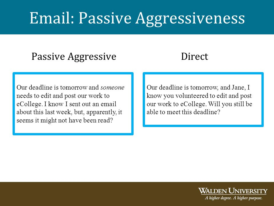 Email: Passive Aggressiveness