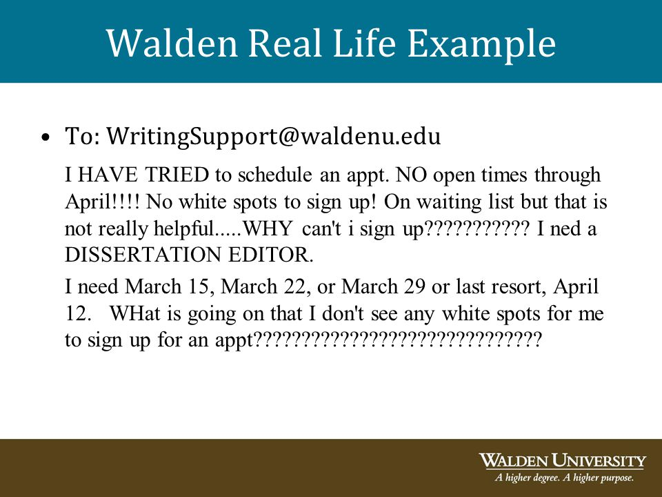 Walden Real Life Example