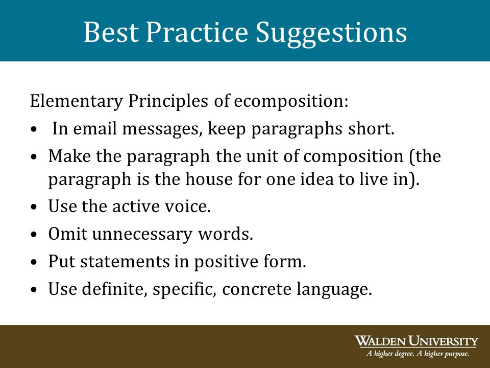 Best Practice Suggestions