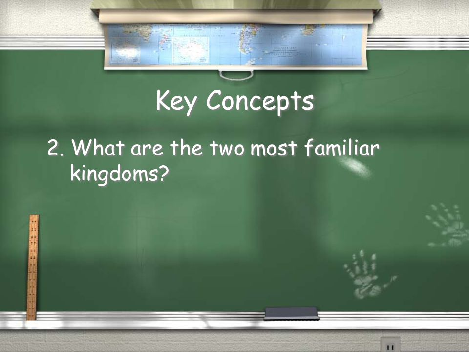 Key Concepts 2. What are the two most familiar kingdoms