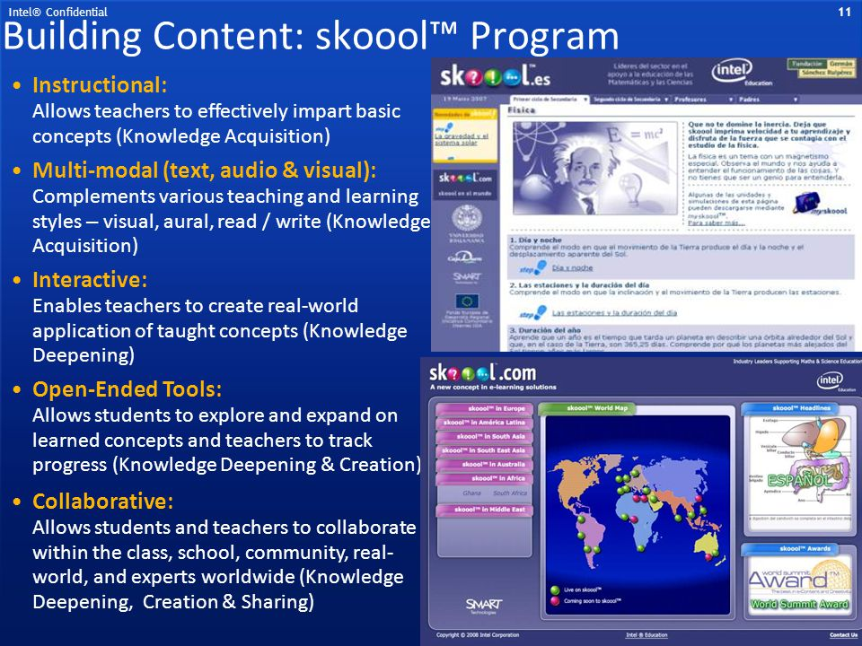 Building Content: skoool™ Program