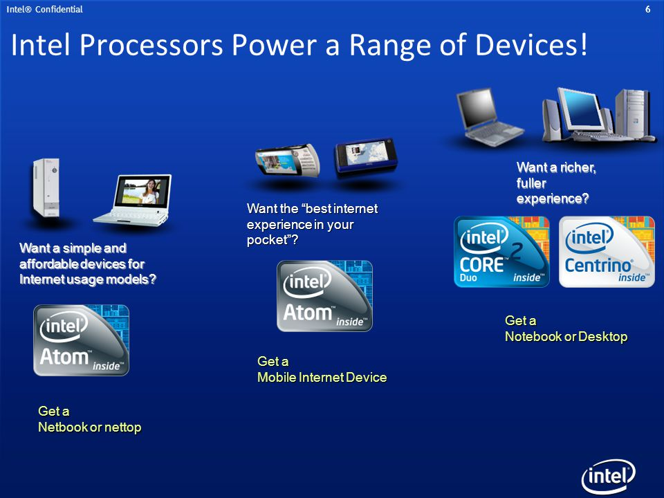 Intel Processors Power a Range of Devices!