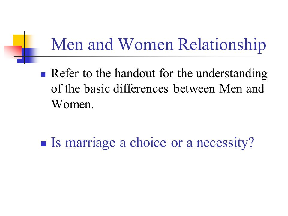 Men and Women Relationship