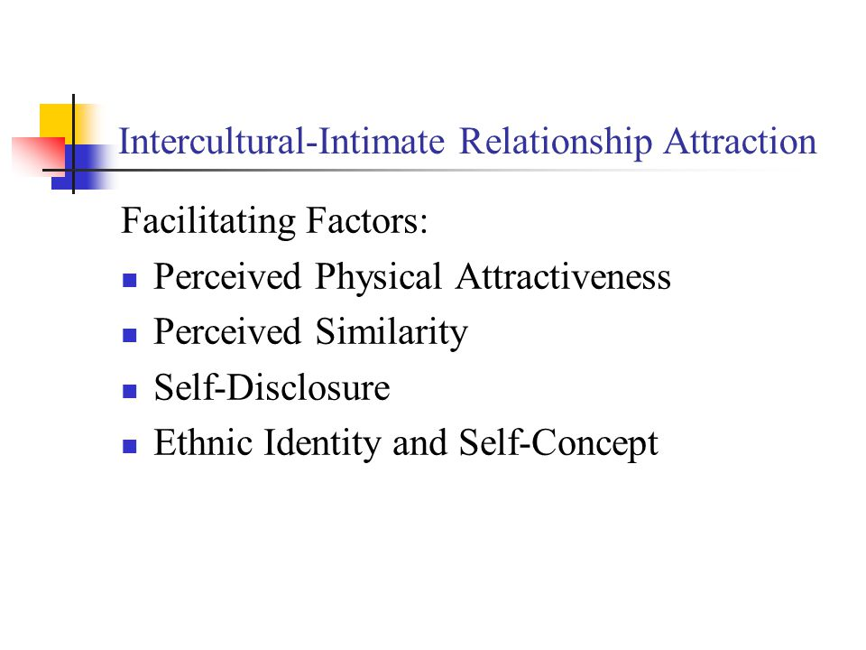 Intercultural-Intimate Relationship Attraction