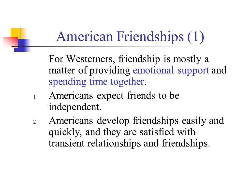 American Friendships (1)