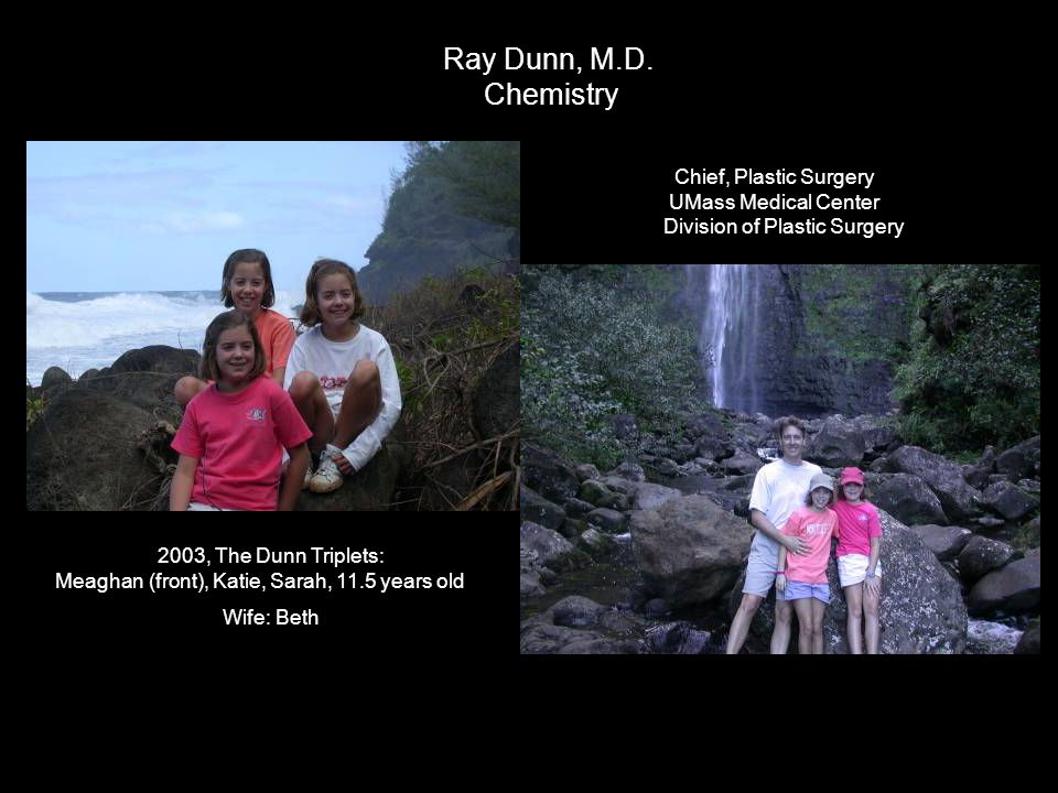 Ray Dunn, M.D. Chemistry Chief, Plastic Surgery UMass Medical Center