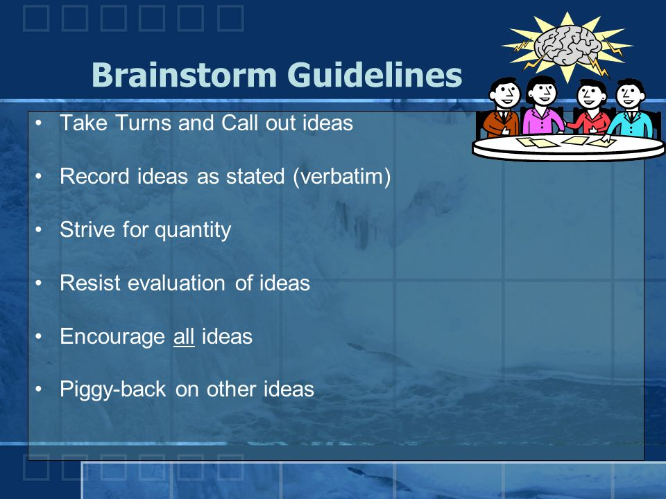 Brainstorm Guidelines