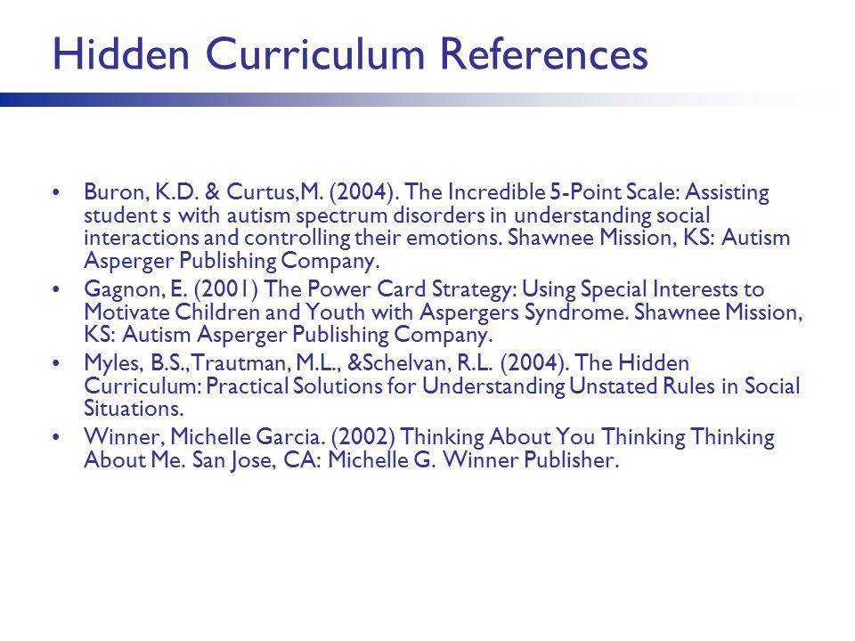 Hidden Curriculum References