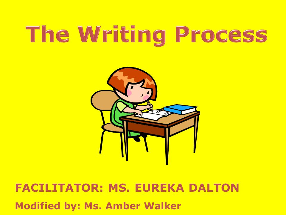 The Writing Process FACILITATOR: MS. EUREKA DALTON