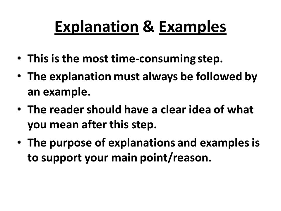 Explanation & Examples