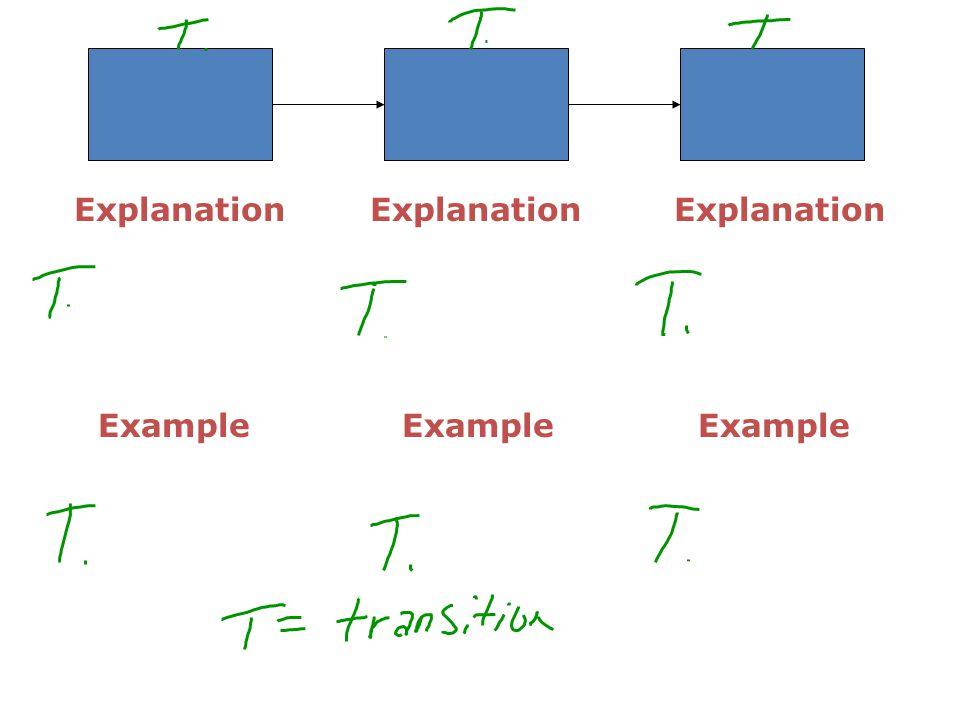 Explanation Explanation Explanation Example Example Example