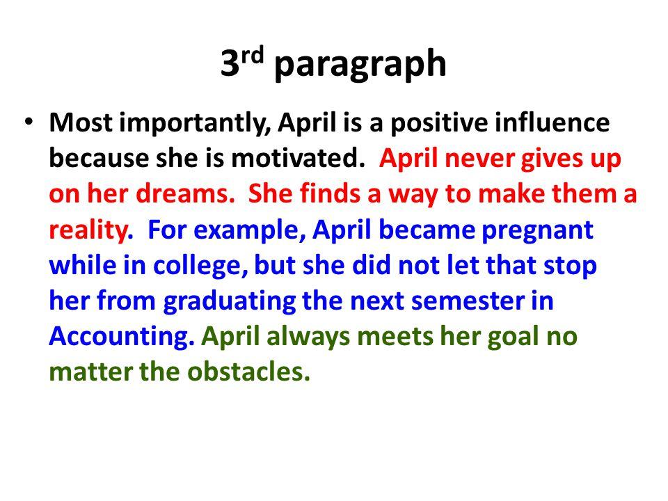 3rd paragraph