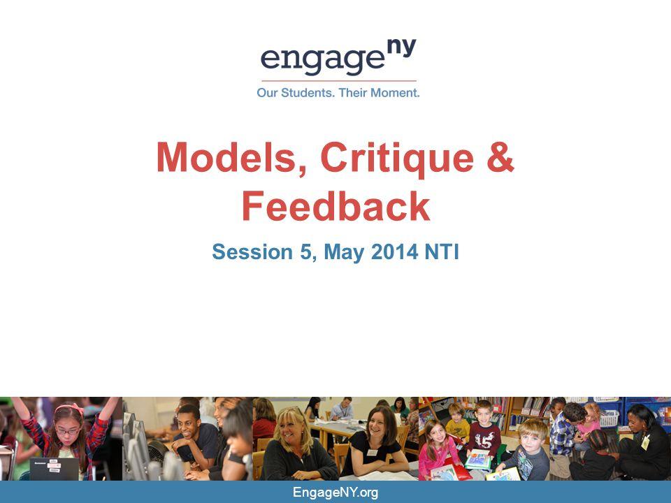 Models, Critique & Feedback
