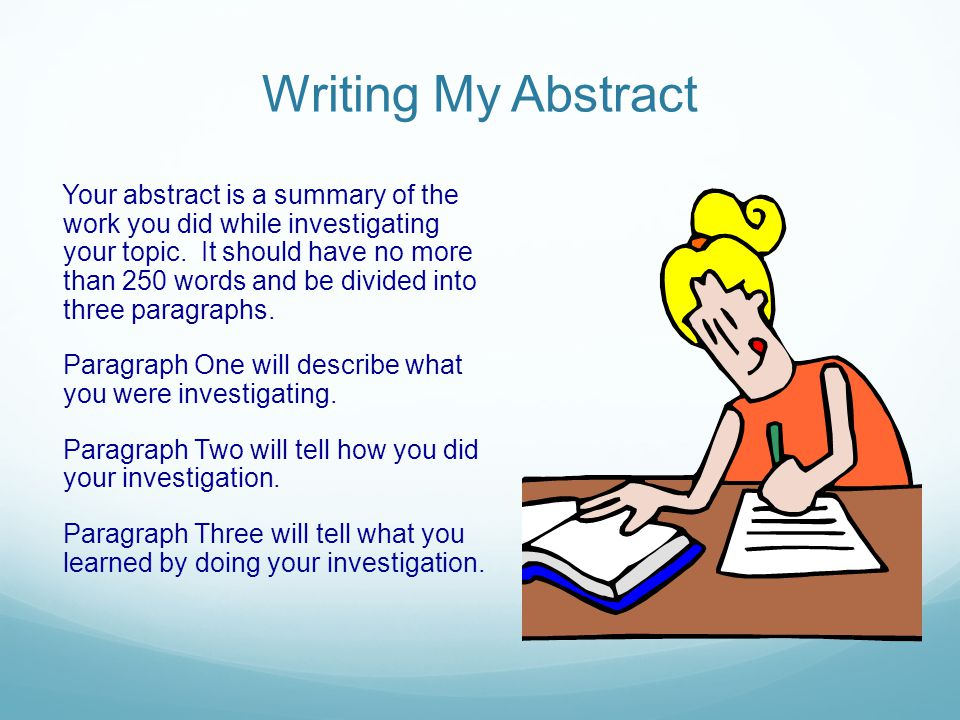 Writing My Abstract