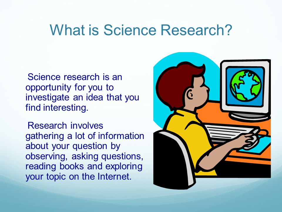 What is Science Research