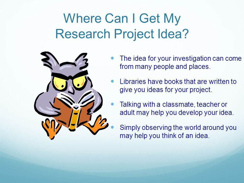 Where Can I Get My Research Project Idea