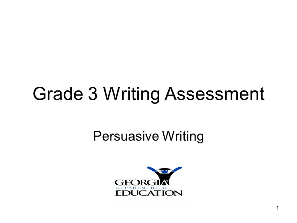 Grade 3 Writing Assessment
